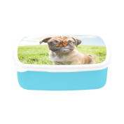 D-Story A Cute Chihuahua Pug Children's Lunch Box Leakproof Bento Lunch Box Food Container