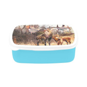 D-Story Family Beautiful Reindeer Children's Lunch Box Leakproof Bento Lunch Box Food Container