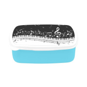 D-Story Piano Keys With Musical Notes Children's Lunch Box Leakproof Bento Lunch Box Food Container