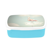 D-Story Flamingo With Long Legs On A Cloudy Sky Children's Lunch Box Leakproof Bento Lunch Box Food Container