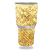 MightySkins Protective Vinyl Skin Decal for SIC 890ml Tumbler (Seriously Ice Cold) wrap cover sticker skins Gold Tiles