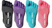 QBSM Non Slip Skid Yoga Pilates Socks with Grips Cotton for Women