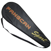 Fangcan Racket Case Cover Leather Bag Black with Red Pack of 2