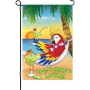30cm Garden Flag - Wants a Cocktail