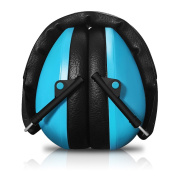 SilentSound 27 dB NRR Sound Technology Safety Kids and Teenagers Ear Muffs with LRPu Foam for Shooting, Music & Yard Work, Blue