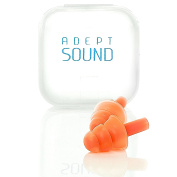 Ear Plugs (Orange) Noise Cancelling For Sleeping, Concerts, Music Events, Shooting Range, Construction Work, Motor Sports Racing, Reusable Soft Hypoallergenic Silicone Material, Comfortable Earplugs