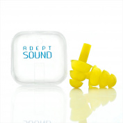 Ear Plugs (Yellow) Noise Cancelling For Sleeping, Concerts, Music Events, Shooting Range, Construction Work, Motor Sports Racing, Reusable Soft Hypoallergenic Silicone Material, Comfortable Earplugs