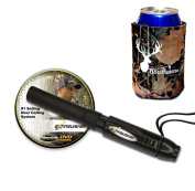 Extinguisher Deer Call (Black) with DVD Instructional + Free Camo Koozie