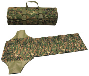 Ultimate Arms Gear Marpat Woodland Digital Camo Deluxe Roll Up Shooter's Shooting Sniper Hunting Protective Padded Mat with Ammo Shell Cartridge Bullet Holder & Pocket Pouches