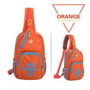 Peicees Sling Shoulder Backpack Casual Chest Pack Unbalance Backpack Bag for Sports & Outdoors, Unisex, Orange
