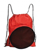 Travelwell Sport Ball Drawstring Backpack, Red