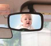 2 in 1 Baby Car Mirror Safety Child Rear View Mirror - Clip to Sun Visor or use Suction Cup to stick to Windscreen Car Rear View