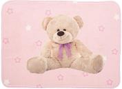 Pink Teddy Lightweight Mat 70 x 95 cm Soft Children's Nursery Rug