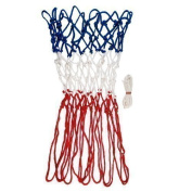 Basketball Spare Ring Net Replacement Hoop Tri-colour Nets Red/white/blue Pair
