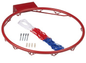 Basketball Hoop Ring With Net Great for Outdoors Professional Basketball Hoop Ring 46cm Full Size