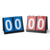 GOGO 2 Pieces Portable Table Top Scoreboards, 1 Blue 1 Red