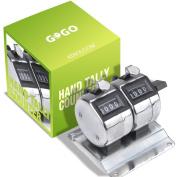 GOGO 2-Unit Counter, Desktop Mechanical Tally Metre, Bank Counter
