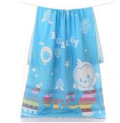 Lovely Cartoon Large Soft Sport Towels Children Babies' Bath Towels Blanket Blue
