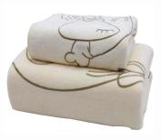 Set of 2 Eco-friendly Absorbent Sport Towels Bath Towels Large Bathcloths