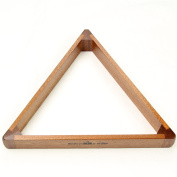 5.7cm 15 Ball Peradon Luxury Solid Mahogany Wooden Triangle - made in UK