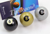 Exclusive 5.1cm Aramith Premier BLACK, SILVER & GOLDEN 8 BALL Single Pool Cue Ball