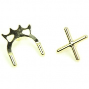 Gold Plated Cross & Bridge Toeless Rest Heads for Snooker or Pool