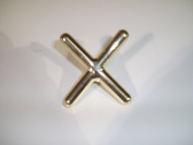 BRASS CROSS REST NO FEET. HIGH QUALITY**