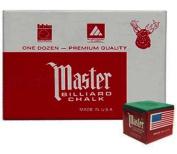 Master Chalk, Green, 12 Piece Box