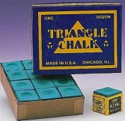 Triangle Billiard Chalks GREEN Pool Snooker Cue Box -12