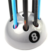 Original Giant SILVER 8 Ball Cue Stand Holds Up To 9 Cues