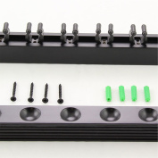 BLACK 8 Way CLIP Snooker Pool Cue Wall Mounted Rack - holds Up To 8 Cues