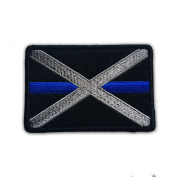 Subdued Thin Blue Line Alabama State Flag Patch