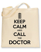 Shaw Tshirts® Keep Calm And Call The Doctor Tote Bag