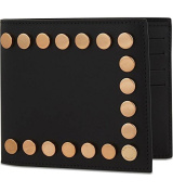Givenchy Men's Black Copper Studded Leather Wallet