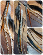 Feather Hair Extension Natural 20 - 25 cm
