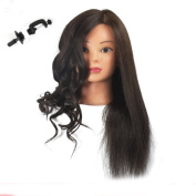 Training Head 85% Real Human Hair Cosmetology Hairdressing Mannequin Manikin Doll