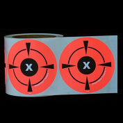 "250 Mega Pack 4"" Target Sticker Roll - Self Adhesive ""SimpleSpot"" Shooting Targets - Easy To See Bright Fluorescent Orange Shooting Targets - You Get 250 TARGETS for the price of 200!"