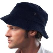 Navy Blue_(US Seller) 100% Cotton Hat Cap Bucket Boonie Unisex