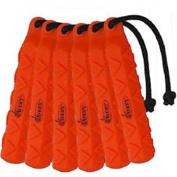 Avery Sporting Dog 5.1cm HexaBumper Trainer,Orange,Pack of 6