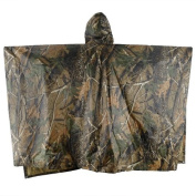 Multi-Use Camo Rain Gear Waterproof-Breathable Ultralight Portable Hooded Raincoat for Riding Camping Mountaineering