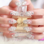 SNNplapla 3D Bride Wedding False Artificial Fake Nails Tips