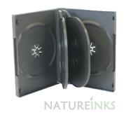 Natureinks 5 x 6 Ways CD DVD Blu ray Storage Case Cases Flip Tray clear outer cover 20mm spine