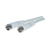Vse 611230 SAT Connexion Cable 100 dB TV Aerial F Plug to F Plug, 1.5 m, White