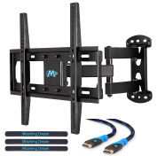 Mounting Dream MD2377-02 TV Wall Mount Bracket for most of 26-55 Inch LED, LCD, OLED and Plasma Flat Screen TV with Full Motion Swivel Articulating Arm up to VESA 400x400mm and 30 KG with Tilting