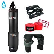 MaxxMMA 1.5m Water/Air Punching bag Kit (Adjustable weight 32-60kg .