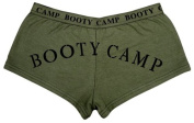 Women's Booty Camp Booty Shorts, Olive Drab, X-Small