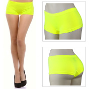 Stretch Seamless Dance Exercise Booty Mini Panties Boy Short Brief Spanks Yellow