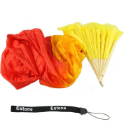 Estone Hand Made Colourful Belly Dance Dancing Silk Bamboo Long Fans Veils 4 Colours
