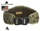 Airsoft Hunting Belt Tactical Padded Molle Waist Belt Multicam Tropic