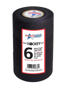 Black Hockey Tape - Stick Tape - 6 Rolls - 2.5cm Wide,20 Yards Long (Cloth) - Made in North America Specifically for Hockey
